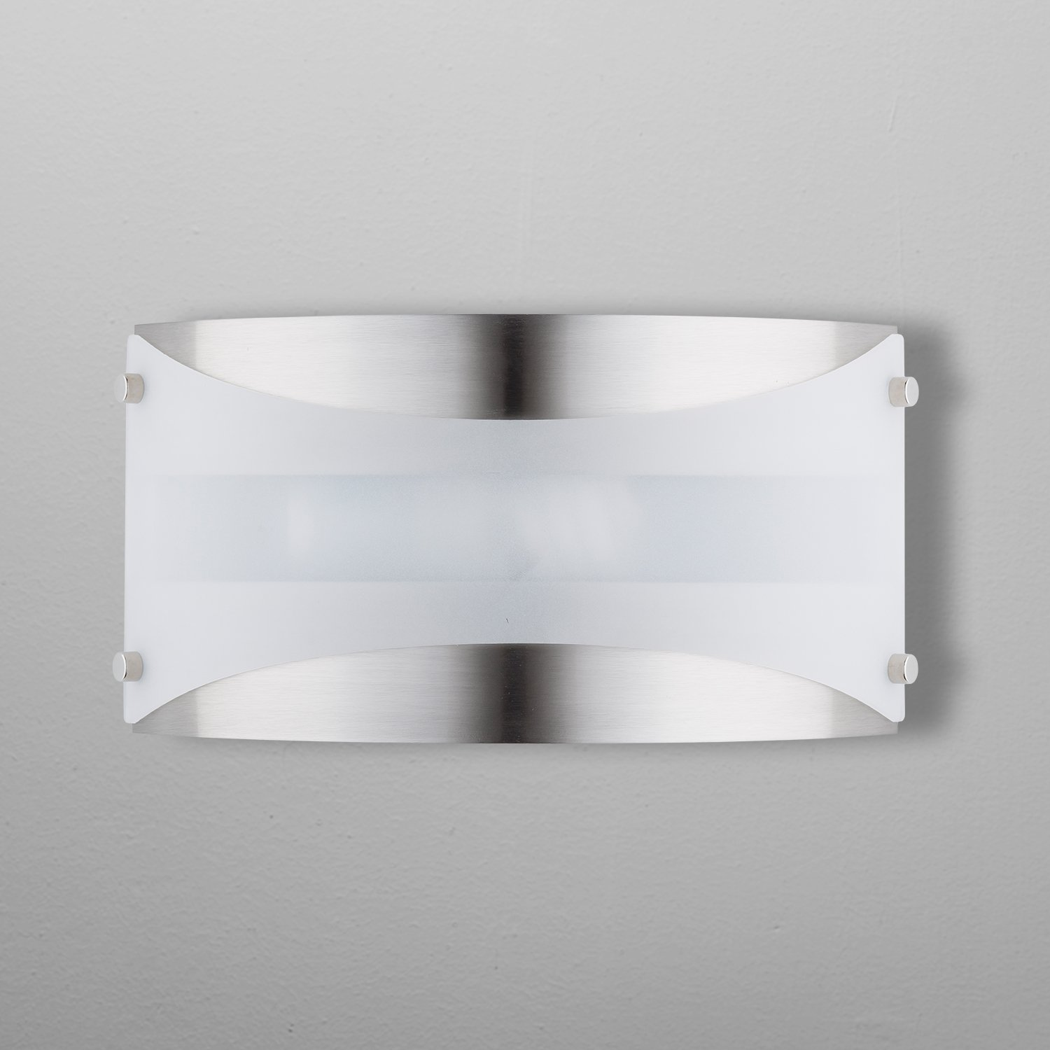 Acciaio Wall Sconce One-Light Lamp Brushed Nickel with White Diffuser - Linea di Liara LL-SC6-BN by Linea di Liara (Image #2)
