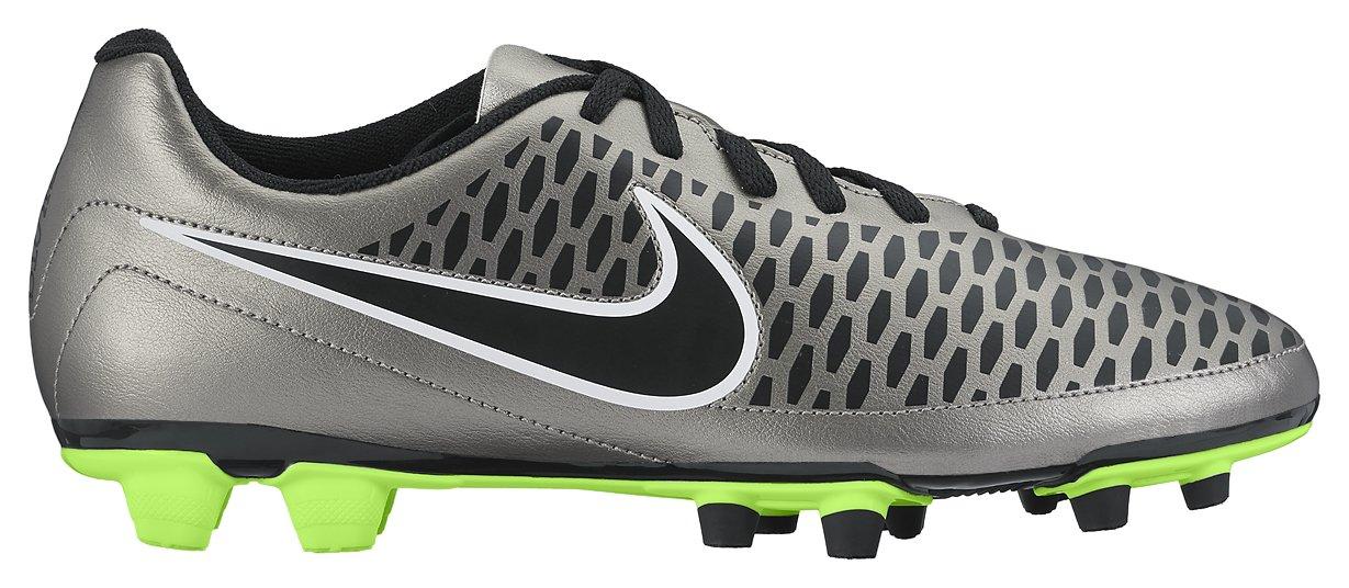Nike Magista Ola FG Botas de Fútbol, Hombre 40 EU|Plateado / Negro / Verde / Blanco (Mtlc Pewter / Blk-ghst Grn-white)