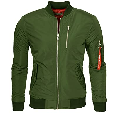 check out 7d36f a6283 Kayhan Herren Bomberjacke übergangs Jacke Star Like, super Modern mehrere  Farben zur Auswahl