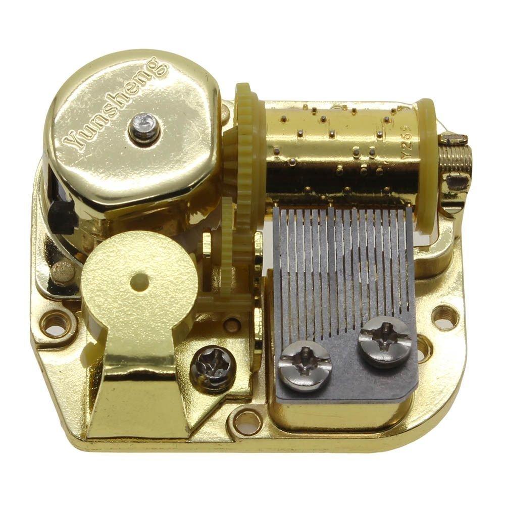 ★お求めやすく価格改定★ MMRM Movement Music Gold Plated Wind Up DIY Mechanism Music Mechanism Box Musical Movement - Wedding March B01CYD54VK, ワンダードック:58211ff1 --- arcego.dominiotemporario.com