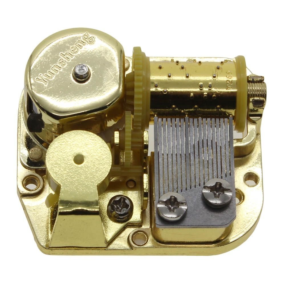 FYUE Gold Plated Wind Up DIY Music Box-for Elise