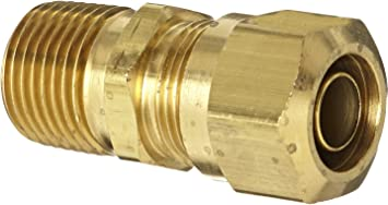 Air Brake Fittings Tube to Pipe 7//16-24 BC x 3//8-18 MP Tompkins 1468-04-06 D.O.T Brass