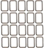 Shapenty 1Inch/25mm Rectangle Bag Purse Snap Hook Metal Loop Rings Webbing Belts Buckle for Handbag Strap DIY…