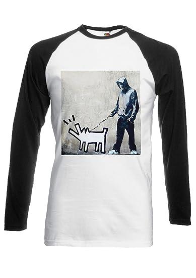2daa0f9755a6 PatPat Store Banksy Keith Haring Dog Street Art Novelty Black/White Men  Women Unisex Long