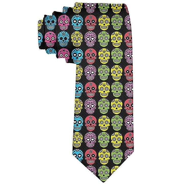 Corbatas de calaveras de azúcar mexicanas de Halloween para ...