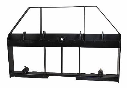 Amazon com: Titan Skid Steer Pallet Fork Frame Attachment