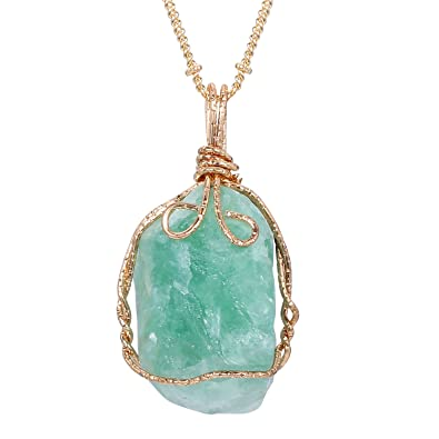 wrapped gemstone best on crystal necklace wire s shop products wanelo