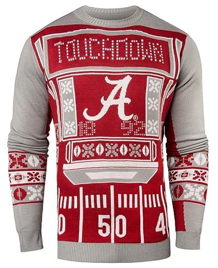 0a0888c55 NCAA College Team Logo Mens Ugly Light Up Crew Neck Sweater (Alabama  Crimson Tide