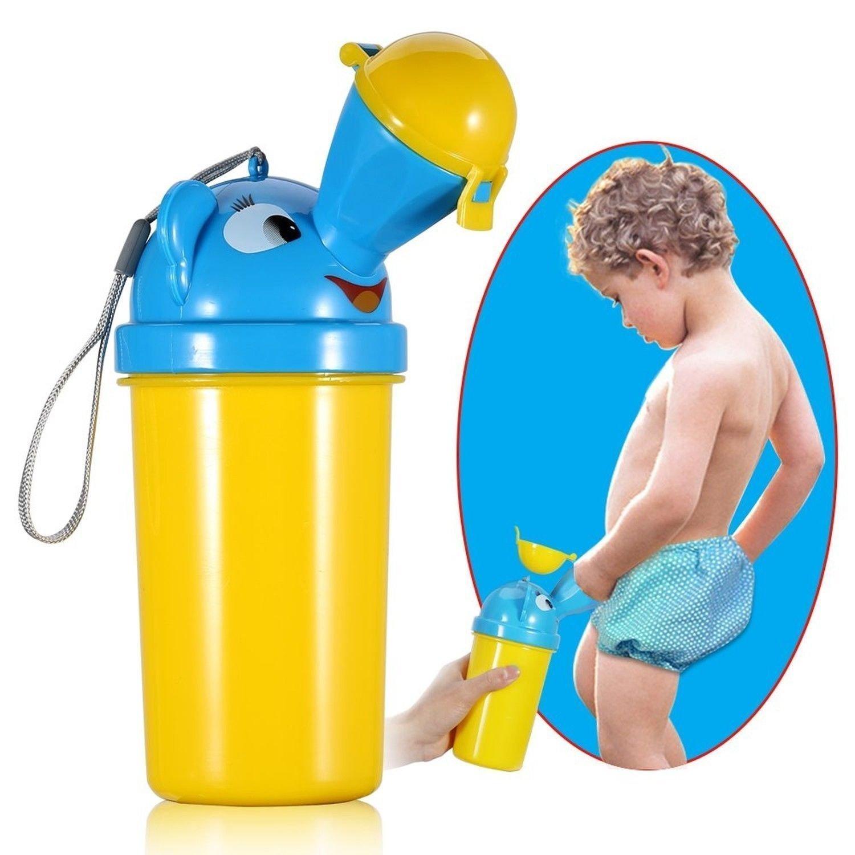 SDTM Bambini Orinatoio, portatile sveglio del bambino Potty igienici urina di emergenza per il Campeggio / Car / Viaggi / Outdoor (Giallo per Boy)
