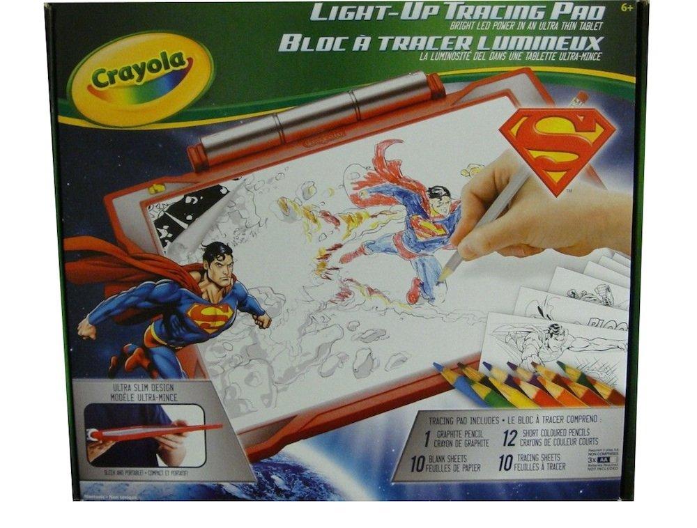 amazon com crayola light up tracing pad red superman edition