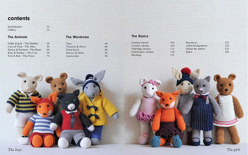 10 Well-Dressed Friends to Make Cute Crocheted Animals