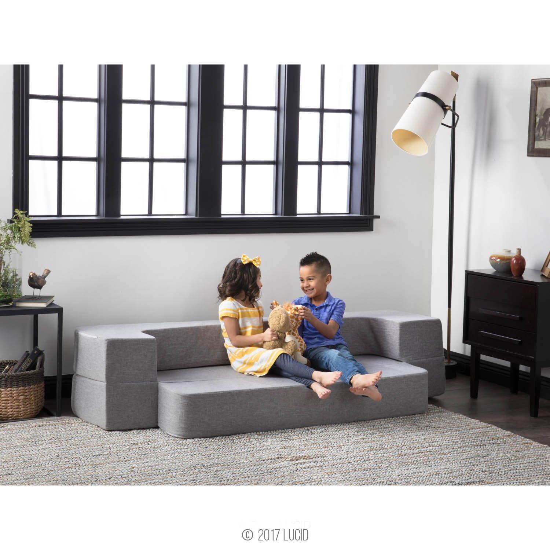 Lucid 8 Inch Convertible Foam Mattress And Floor Sofa