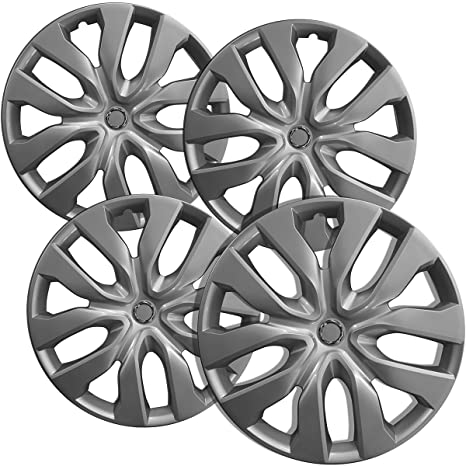 17 inch Hubcaps Best for 2014-2018 Nissan Rogue - (Set of 4) Wheel Covers 17in Hub Caps Silver Rim Cover - Car Accessories for 17 inch Wheels - Snap On ...