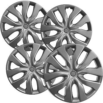 Tapacubos para Nissan Rogue (Pack de 4, fijación a presión de 17 pulgadas), Plata, -wheel Covers: Amazon.es: Coche y moto