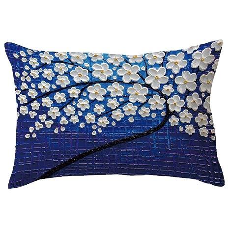 Almohada Funda De Cojín 30 cm x 50 cm ronamick rectángulo grande algodón Imprimir almohada Glückliche Multicolor Impreso costura transpirable, c, 30cm ...