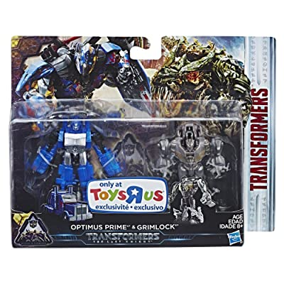 Transformers The Last Knight Optimus Prime & Grimlock ToysRus Exclusive 3 Inch Figure 2 Pack: Toys & Games