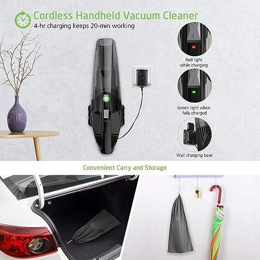 Elikliv 2000mah Handheld Cordless Leaf Blower Li Battery Dust Sweeper Vacuum Cleaner Tool