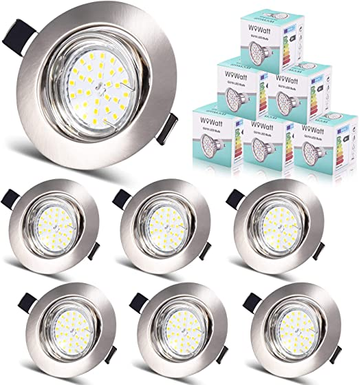 Wattage 5W 220V Round Recessed Led Downlight 68-80MM Cut Hole Size LED Spot Lamp 3W//5W for Ceiling//Living Room SMD Full Watt Size 5W Cold White