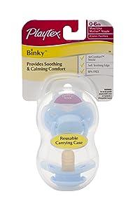 Playtex 2 Piece Binky Latex Pacifier, Newborn (Discontinued by Manufacturer)