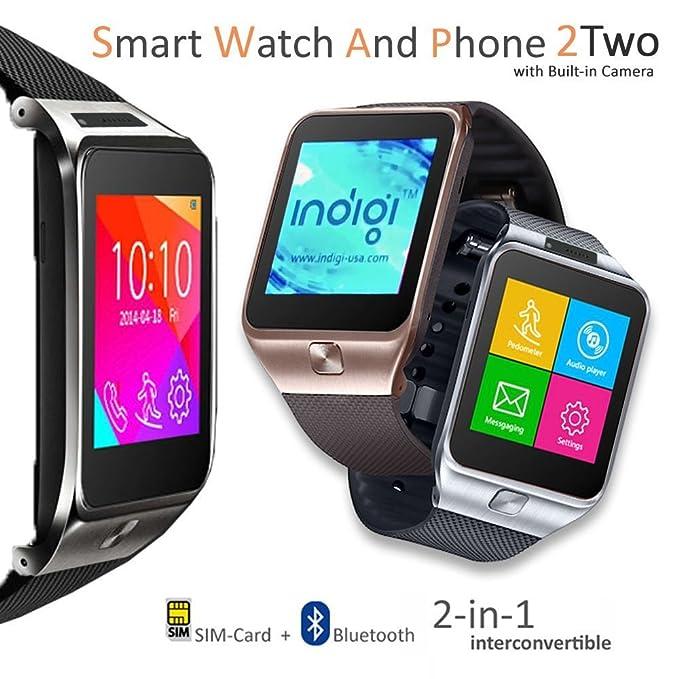 inDigi® 2 en 1 Smartwatch teléfono (Desbloqueado de fábrica ...