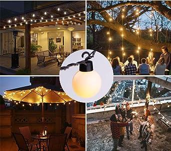 ELINKUME 5M Luces LED de hadas con 20 bombillas, bombillas de luz ...