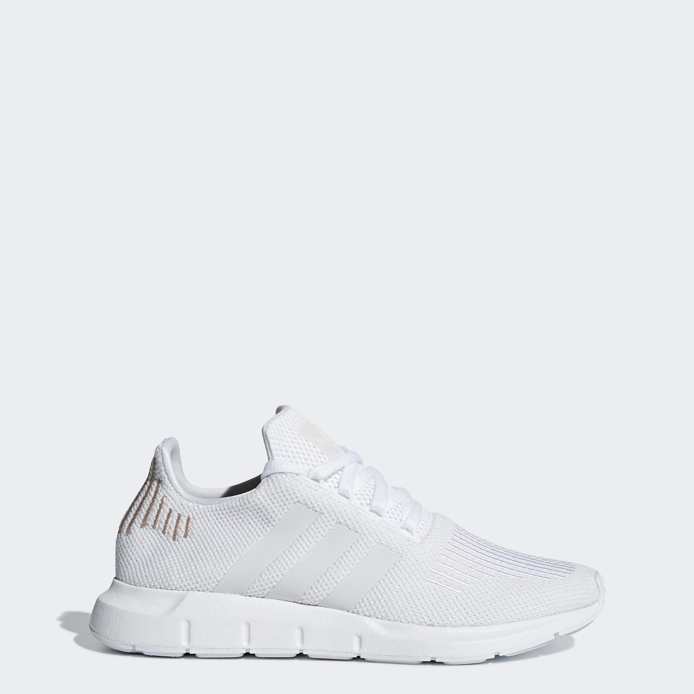 adidas Originals Women's Swift Run Sneaker, White/Crystal White/White, 7.5 M US