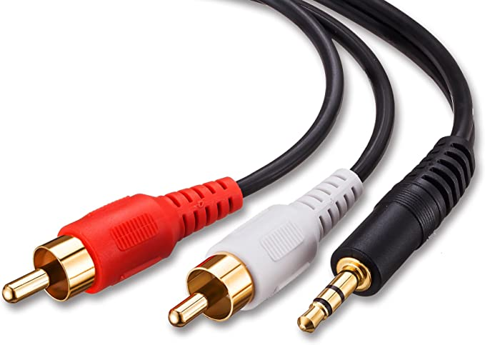 100 Pack 4 Feet Premium 3.5 MM AUX Male To 2 RCA Male Audio Cable Cord iPod MP3