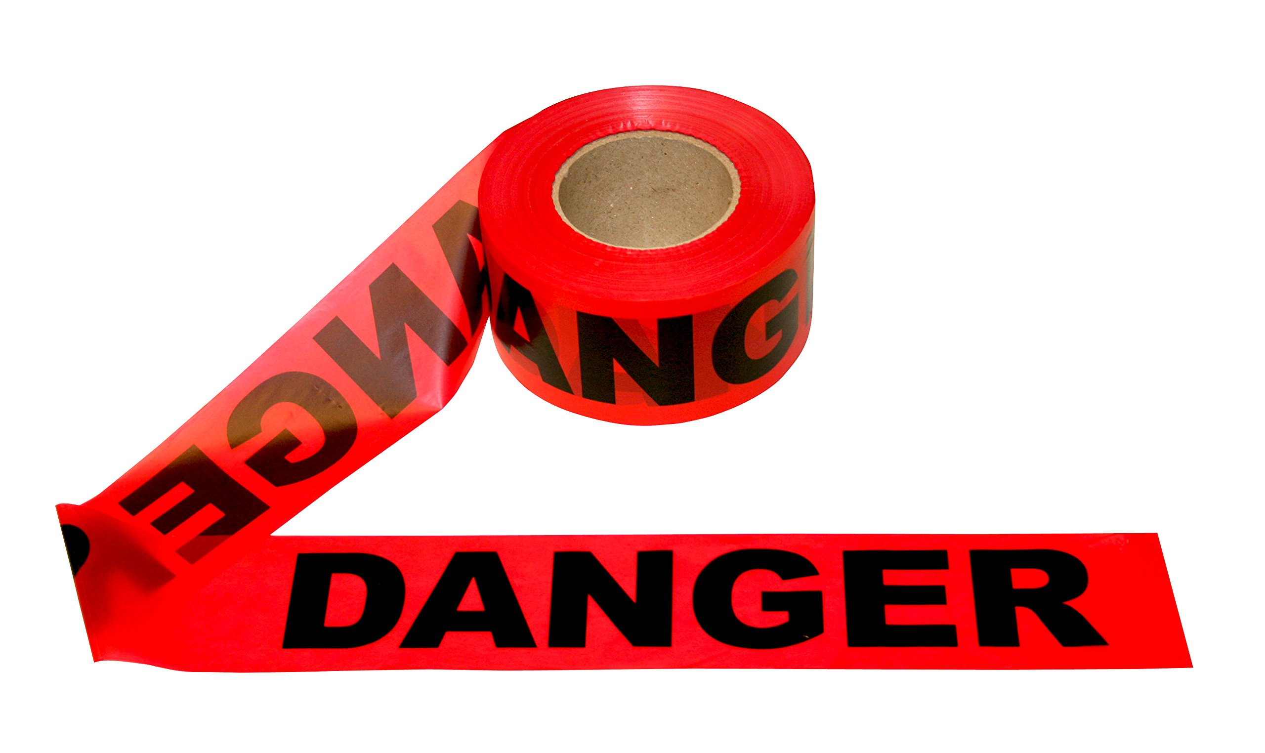 Cordova Safety Products T15211 Pro Pack Danger Barricade Tape (12 Pack), 3''/1000', Red