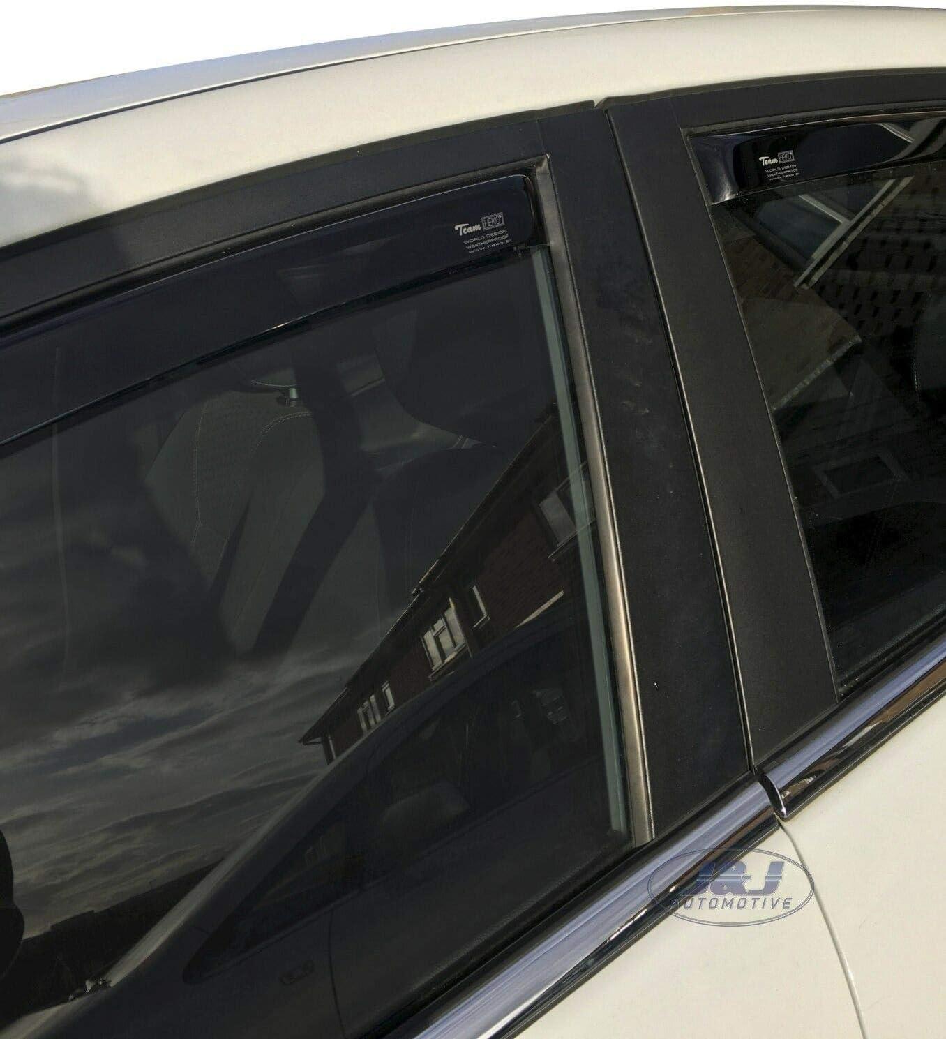 J/&J AUTOMOTIVE Derivabrisas para FORD Fiesta 6 5 puerta 2008-2017 4 piezas