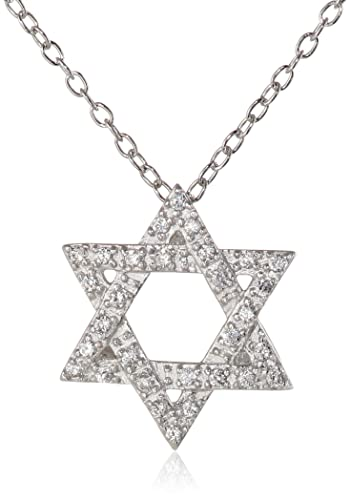 INACY 925 Sterling Silver Hexagram Star Pendant Womens Necklaces tT2hhw8