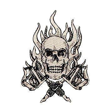 Skulls Calaveras Tattoo Tatuaje Guns Armas De Fuego Patch Parche