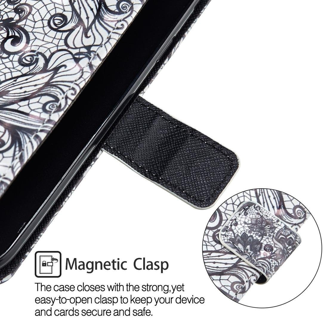 Amazon.com : Galaxy S7 Edge Case, Durable Pu Leather Shock Proof Magnetic Cover Flip Stand Wallet Card Holder Lightweight Bumper Strap Folding Case Birthday ...