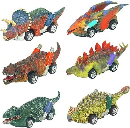Angusiasm Coches Juguete para Niños Dinosaurios Juguetes Animales Juguetes Pack de 6 Vehículos para Niños de 2 3 4+ Años: Amazon.es: Juguetes y juegos
