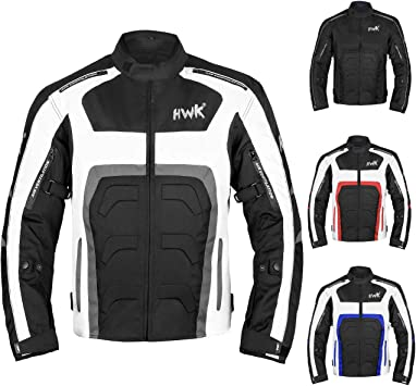 Motorbike accessories for men women Winter Summer Armour Motorcycle Riding padded Breathable Jacket Waterproof Textile Full Body Protection Gear White, 5XL