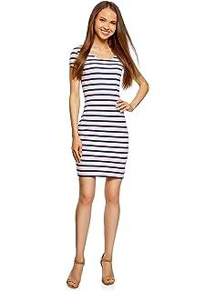 c0e8f6434ec oodji Ultra Femme Robe Basique en Maille  Amazon.fr  Vêtements et ...