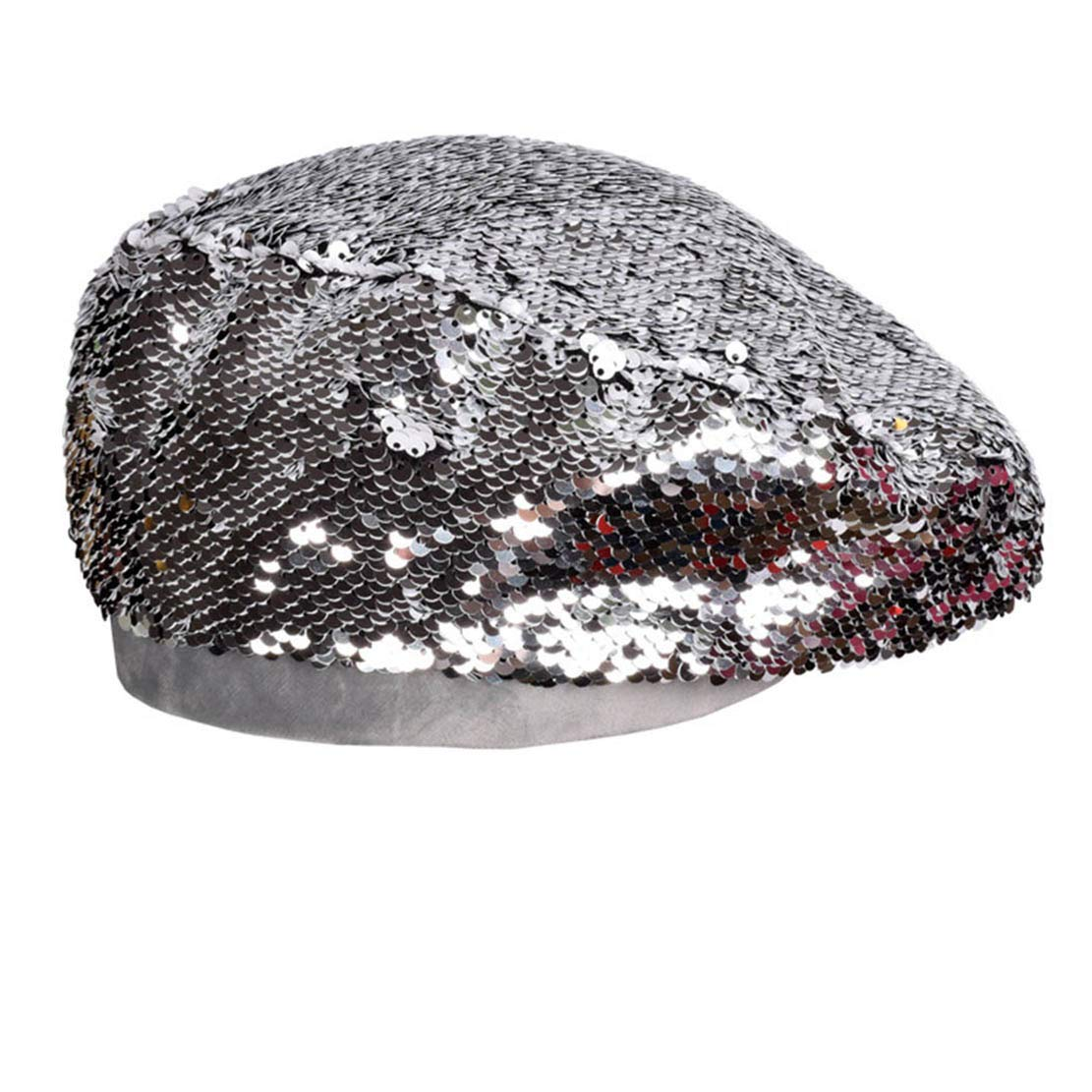 85876523 Eohak Women's Sequin Beret-French Hats Shining-Beanie Party (Black) at Amazon  Women's Clothing store:
