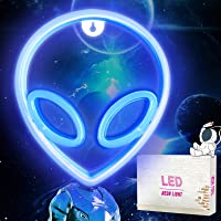 Alien LED Neon Light Neon Signs, pared de Letreros de Luz de Neón Alienígena, Luces de Noche para Colgar USB / Batería…