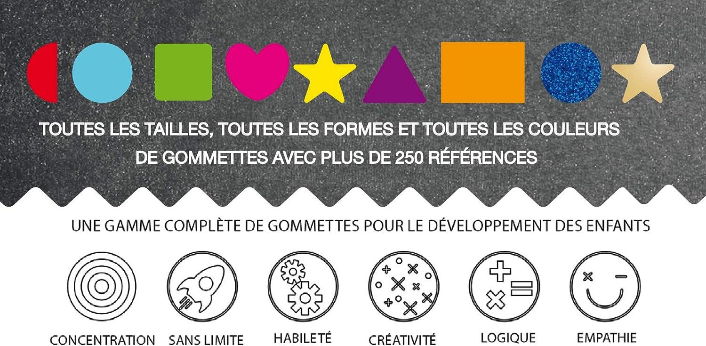 Apli Kids 11116 Rouleau de 2360 gommettes Etoiles or