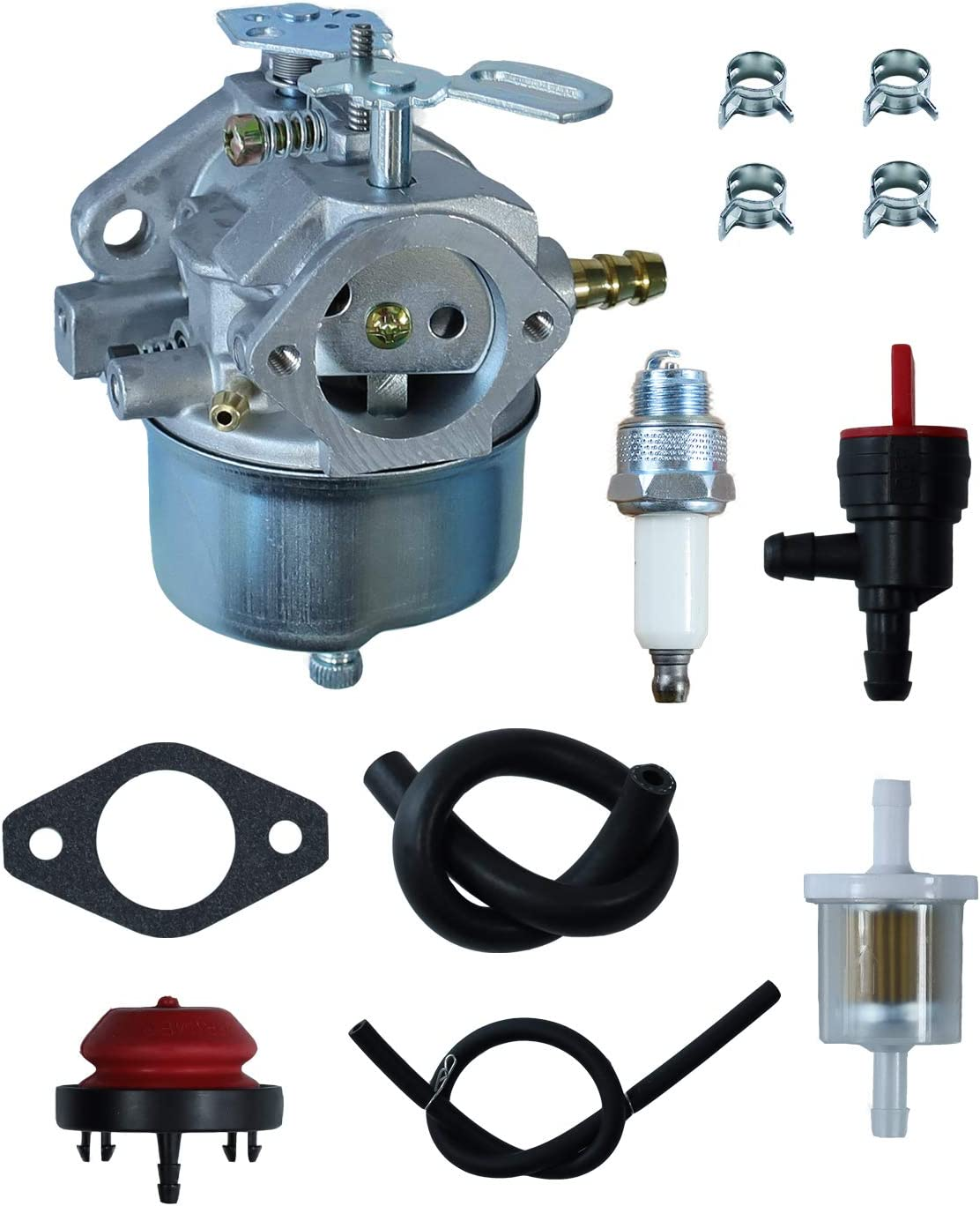 632334 Carburetor Tune-up Kits Replaces # 1099,1432,632334A,640084B,Oregon 50-642 for Tecumseh HM80 HM70 HMSK80 HMSK90 Fits for John Deere AM108405 AM100246 Toro 824 824XL 828 Snow Blower Throwers