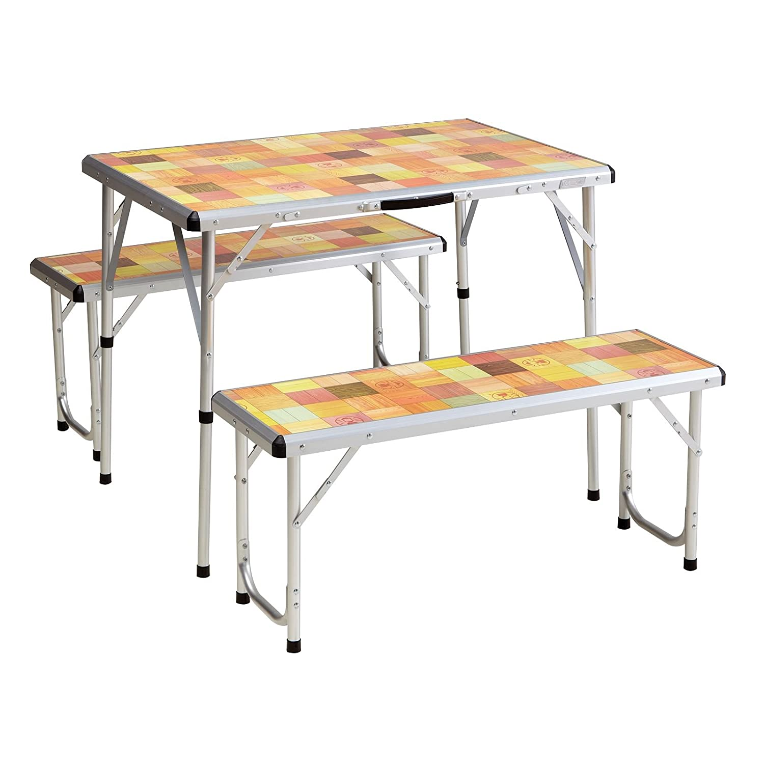 folding table living file outsunny picnic durable in wood portable fir garden outdoor desk bench