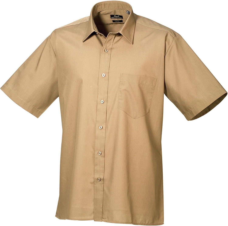 Premier Workwear Poplin - Camiseta de manga corta para hombre verde caqui L
