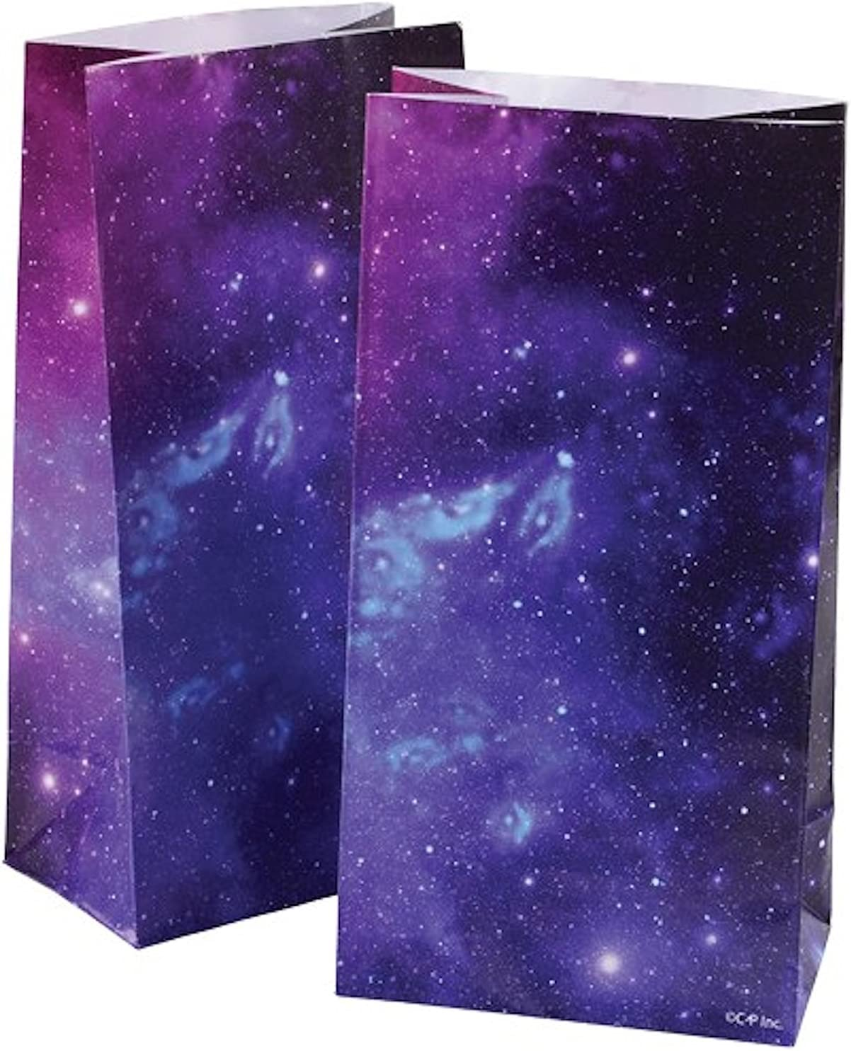 2 Dozen (24) OUTER Space Paper GOODY BAGS -GALAXY Planets - Science SOLAR SYSTEM Classroom PARTY FAVORS