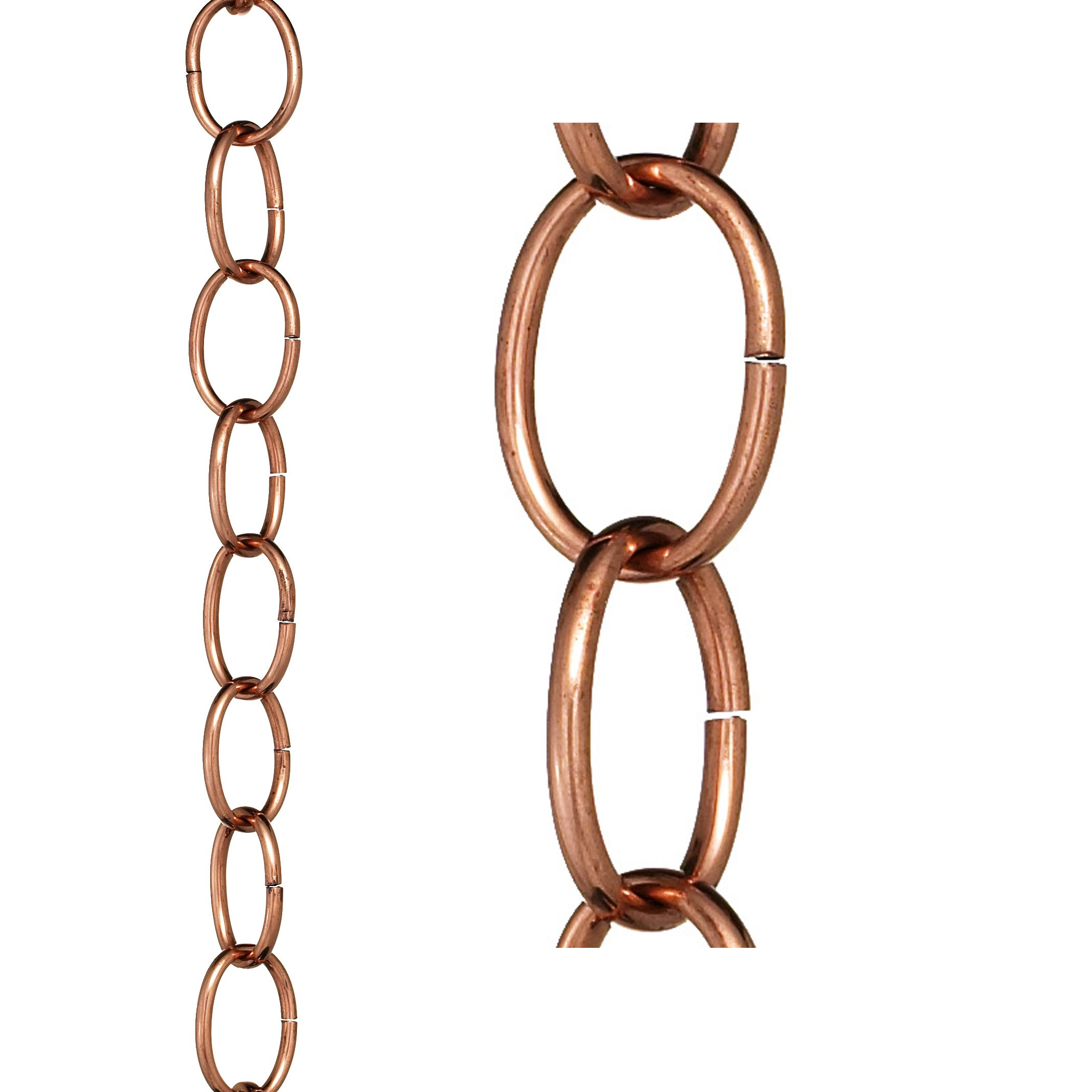 Good Directions Small Single Link Pure Copper 8.5-Foot Rain Chain