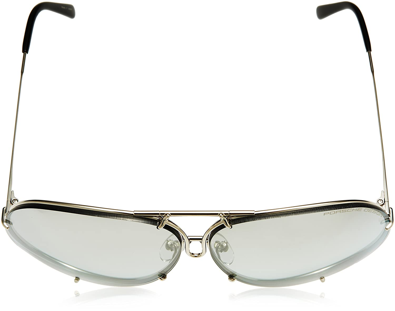 52d29636505f Amazon.com  Porsche Designs Sunglasses P8478 B Titanium Gray Gradient with  Silver Mirror Green 69 10 135  Porsche  Clothing