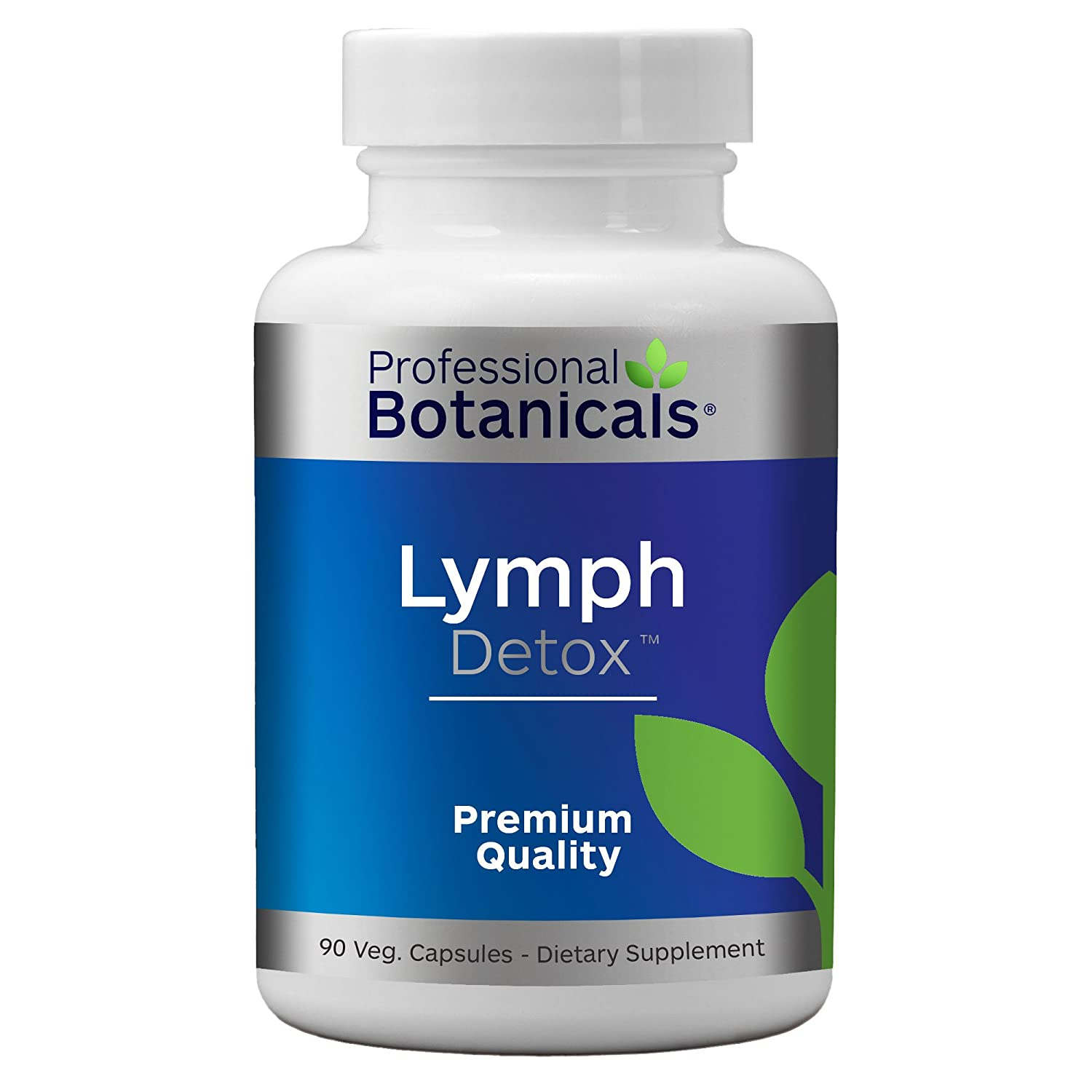 Professional Botanicals Lymph Detox – Natural Vegan Lymphatic Drainage Supplement Supports Natural Detoxification and Immune Function – 90 Vegetarian Capsules