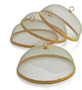 Woodard & Charles Round Mesh Domes Food Covers, Set of 4, 14