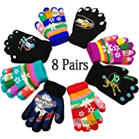 High Quality Children Winter Fingers Warm Soft Knitted Gloves Girls Fashion Plush Gloves Lovely Cat Gloves For Kids 4-7y Boys' Baby Clothing