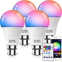 HaoDeng 10W A19 B22 (90W Equivalent) 800Lumens WiFi & Bluetooth & Remote 3in1 RGBCW WiFi LED Smart Bulb - Dimmable…