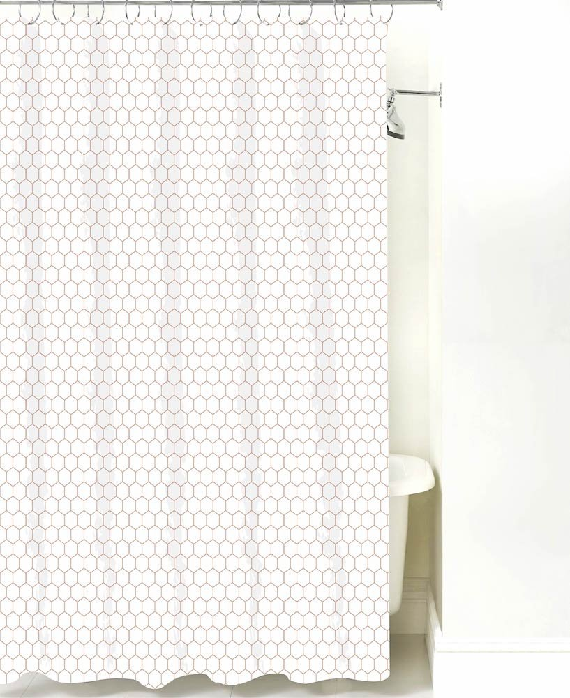 Polyester Soft Touch Waterproof Washable Bath Cloth Shower Curtains for Bathroom Creative Scents CVW-44321 Includes PEVA Shower Curtain Liner Mildew Resistant Vintage White Decorative Fabric Shower Curtain 72 x 72 inch