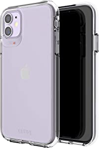 GEAR4 Crystal Palace Compatible With iPhone 11 Case, Advanced Impact Protection With Integrated D3O Technology, Anti-Yellowing, Phone Cover – Transparent